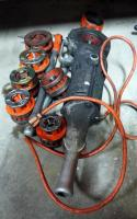 Ridgid Power Drive Threader Model 700. Includes Dies, Wrench And Reamer. Total Qty. 9
