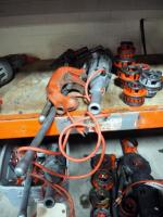 Ridgid Power Drive Threader Model 700. Includes Dies, Wrench, Reamer And Pipe Cutter. Total Qty. 11