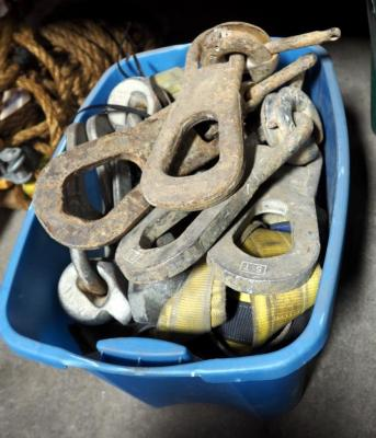 Safety D-ring Straps And Cable Anchors. Contents Of Tote.