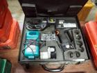 Panduit Battery Powered Hydraulic Compression Tool, Model CT-2931, Includes Charger, Batteries, & Carrying Case, Needs Repair