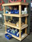"Custom Built Wooden Rolling Storage Rack, 70"" x 48"" x 24"", Contents Not Included, 2nd Day Load Out Only"
