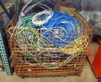 Conduit And Wire Assortment Including Flexible Metal And More, Contents Of Wire Basket, Includes Basket