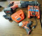 Milwaukee Battery Powered Sawzall And Impact Driver (Driver Has No Battery), Includes M12 And M18 Battery Chargers