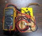 Fluke True RMS Multimeter Model 112, With Leads And Greenlee Acoustical/Optical Tester, With Leads and Leather Belt Case