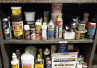 Lubericants, Motor Oil, Brake Fluid, Chalk And More. Contents Of 4 Shelves