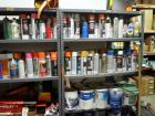 Spray Paint And Latex Paint, Contents Of 6 Shelves And 2 Crates