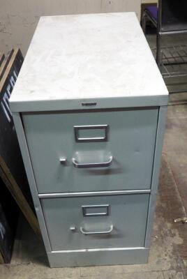 Hon Metal 2 Drawer Lateral Filing Cabinet And 2 Drawer Filing Cabinet