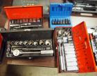 Klein, Stanley And Master Mechanic Socket Sets and Assorted Drivers. Qty. 10