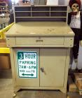 "2 Door Metal Warehouse Cart With Drawer And File Sorter, 53"" x 34"" x 29"""