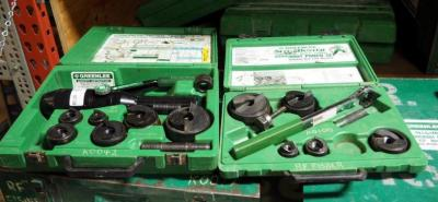 Greenlee Slug Buster Knockout Punch Set Model 7238SB And Quick Draw Hydraulic Punch Driver Set Model 7806SB