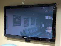 "Samsung 50"" SRS, Dolby Digital, Flat Screen TV, Mounted To Wall, Includes Wall Mount Bracket, With Remote, Bidder Responsible For Proper Removal"