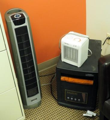 Eden Pure Infrared Max Heat Heater And Lasko Tower Heater, Powers On