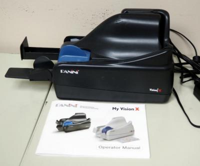 Panini Check Scanner Model Vision X, Unknown Working Condition, With Owners Manual