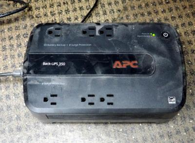 APC BackUps 350 Power Source And Power Strip With Extension Cord
