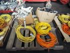 Extension Cord And Power Strip Assortment, Various Lengths/Gauges/Sizes, Qty 6 Extension Cords And 2 Boxes Of Strips/Misc), Contents Of Pallet