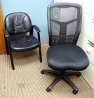 Adjustable Rolling Office Chair With Leather Like Upholstered Reception Chair And Rolling Chair Carpet Protector