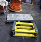 "Metal Framed Flatbed Warehouse Cart, 4' x 2', 4.10/3.50 2 Wheel Axle, Rolling Floor Dollies 30"" x 18"" Qty 2"