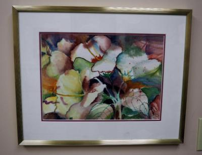 "Framed Matted Under Glass Art, 16"" x 20.5"" By Sue Lavota"