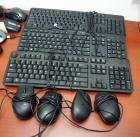 Dell Wired Keyboards, Qty 3, With Corded Mouse, Qty 4