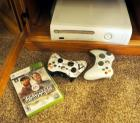 X-Box 360 Gaming Station Including Wireless Remotes, Qty 2 And Tiger Woods PGA Tour Game