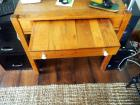 "Antique Single Drawer Solid Wood Desk, With Glass Pull Knobs, 30"" X 31"" X 21"" Contents Not Included"
