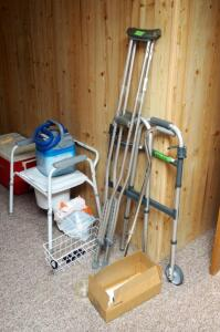 Invacare Rolling Walker, Commode, Chair, Cane, Crutches And More
