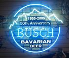"Busch Beer 2005 50th Anniversary Neon Light, 36"" Wide x 33.5"" High, Powers On"
