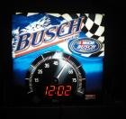"Busch NASCAR Lighted Digital Clock, 18"" Wide x 18"" High, Powers On"