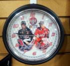 "NASCAR Coca-Cola Dale Earnhardt And Dale Jr Wall Clock, 9.25"" Diameter"
