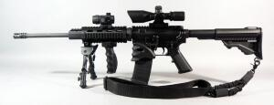 DPMS Panther Arms A-15 5.56mm Rifle SN# FFH116660, With CP Red Dot Sight, NoSTAR 2.5-10x40 Scope, Bipod, Adjustable Stock, Foregrip And Mag Grip