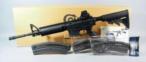 Colt Model M4 Carbine .22 LR Rifle SN# BP097003, 3 Total Mags, With Paperwork, In Original Box