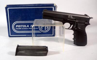 FM Hi-Power /CAI Model M90 9x19mm Pistol SN# 370633, 2 Total Mags, Made In Argentina, In Original Box