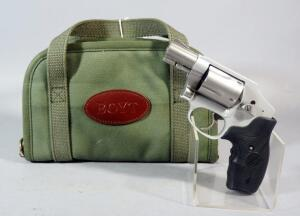 Smith & Wesson Model 642-2 Airweight .38 S&W SPL +P 5-Shot Revolver SN# DAT0342, With Crimson Trace Laser Grip, In Boyt Soft Case