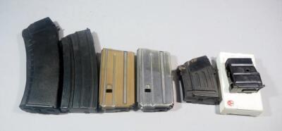 Assorted 5.56x39mm Magazines, Various Capacities, Total Qty 6