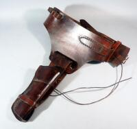 Leather Holster And Belt With 28 Cartridge Loops