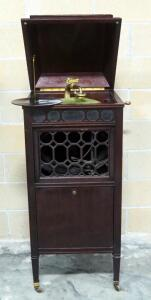 Antique Edison Disc Phonograph S 19  SM - 4520, Floor Standing Phonograph Cabinet, Still Operates