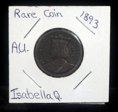 1893 Isabella Quarter, Rare, Second Commemorative Coin Issued By The United States, See Description