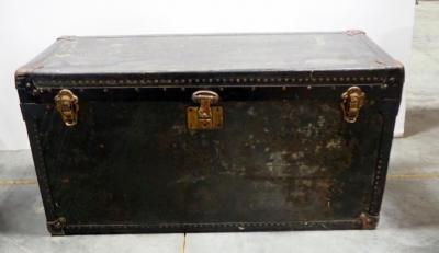 Automobile Picnic Trunk, With Swedish Enamelware And Rogers Nickel Silver Utensils