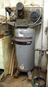 Ingersoll-Rand T30 80 Gallon Air Compressor, Bidder Responsible For Proper Removal