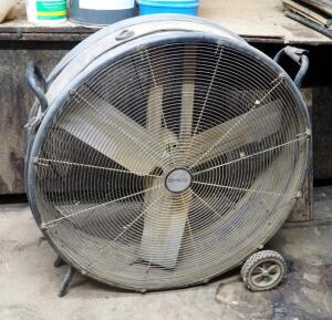 "Utilitech 38"" Rolling Shop Fan"
