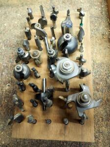 Router Bit Assortment, Various Styles And Patterns, Qty 45