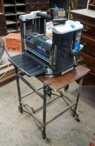"Delta 12.5"" x 6"" Electric Planer, Model 22-560, Including Rolling Base"