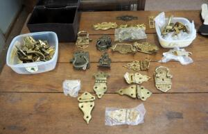 Antique Icebox Latches, Handles, And Hinges, Contents Of Drawer