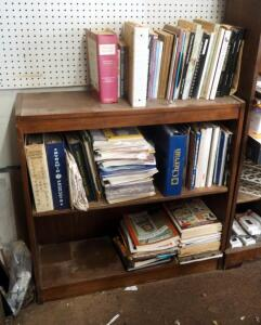 "Antique Furniture And Refinishing Industrial Literature, Includes Solid Wood Bookcase - 36"" x 36"" x 12"""