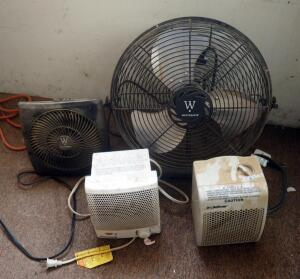 Westpoint Fans And Lifetime Ceramic Space Heaters, Total Qty 4