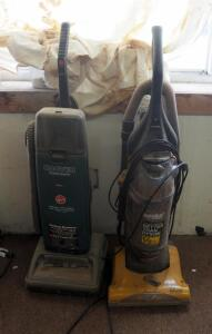 Hoover Dimension Upright Vacuum And Eureka AirSpeed Gold Canister Vacuum