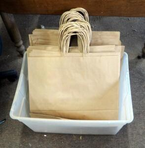 Large Craft Paper Shopping Bags, Approximate Qty 50, Contents Of Tote