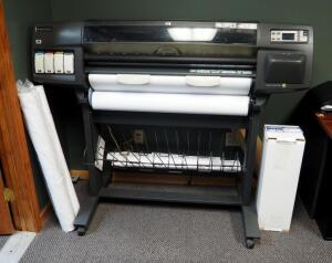 "HP Designjet 1055CM Plus 36"" Plotter, Includes Paper Rolls And CAD Inkjet Rolls"
