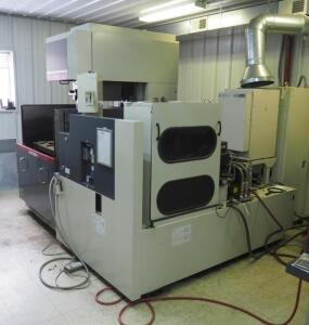 2010 Mitsubishi BA24 CNC Sinker Wire EDM Machine With Automatic Threader, Serial Number 58.B24114