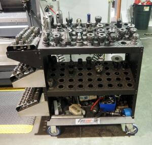 "Millwright Tooling Including Collets, Boring Heads, Collars, And More, Rolling Huot Storage Cart Included - 40"" x 43"" x 21"""